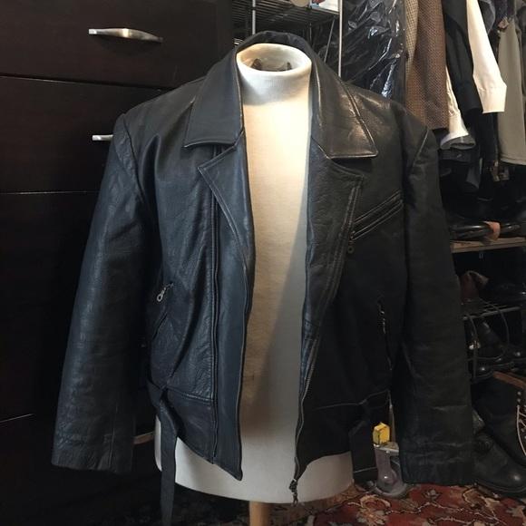 Other - Black Leather Biker Jacket